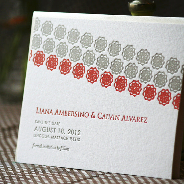 Balboa Letterpress Save the Date