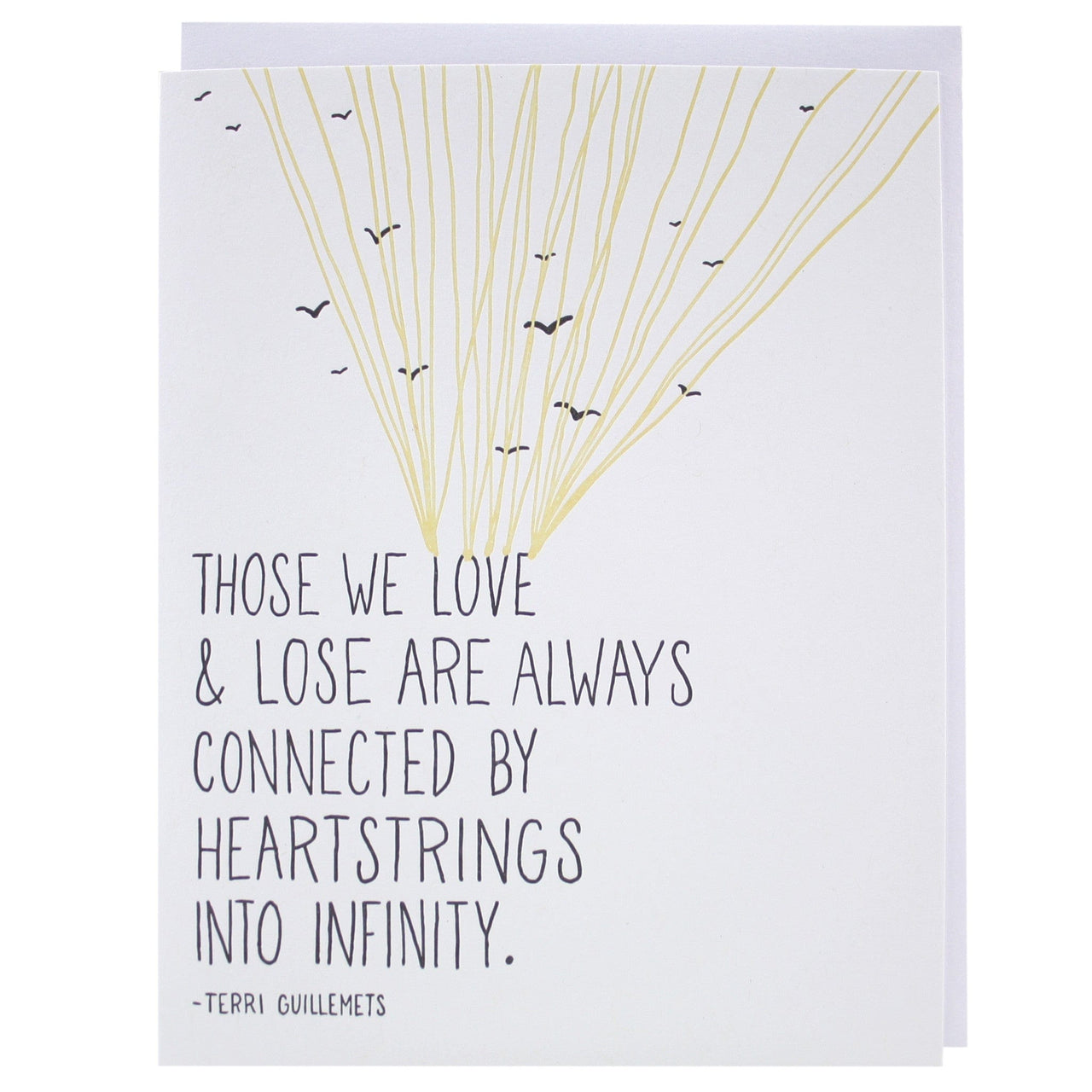 Heartstrings Quote Sympathy Card