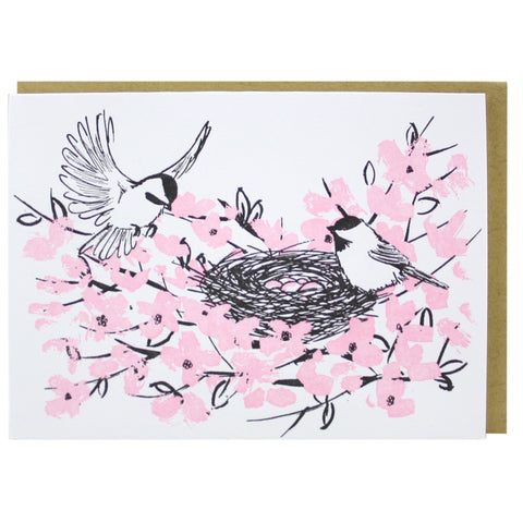 Birds in a Nest Note Card