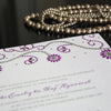 Carraway Letterpress Invitation Close Up