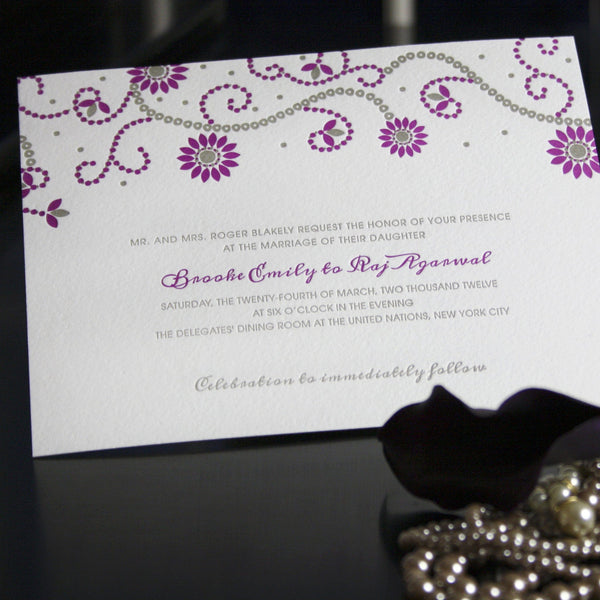 Carraway Letterpress Invitation