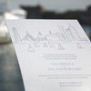 Charles Letterpress Wedding Invitation