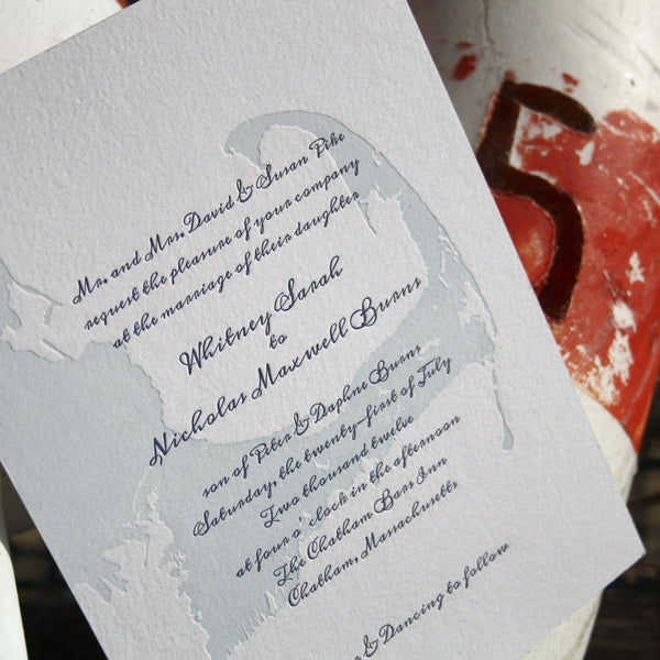 Chatham Letterpress Invitation