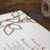 Della Letterpress Invitation Close Up