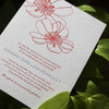 Drew Letterpress Invitation