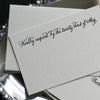 Eliot Letterpress Reply Card