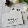 Painted Edge Calligraphy Letterpress RSVP
