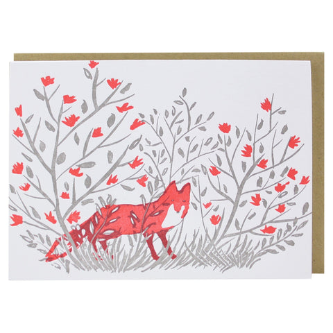 Fox in Forest Note Card