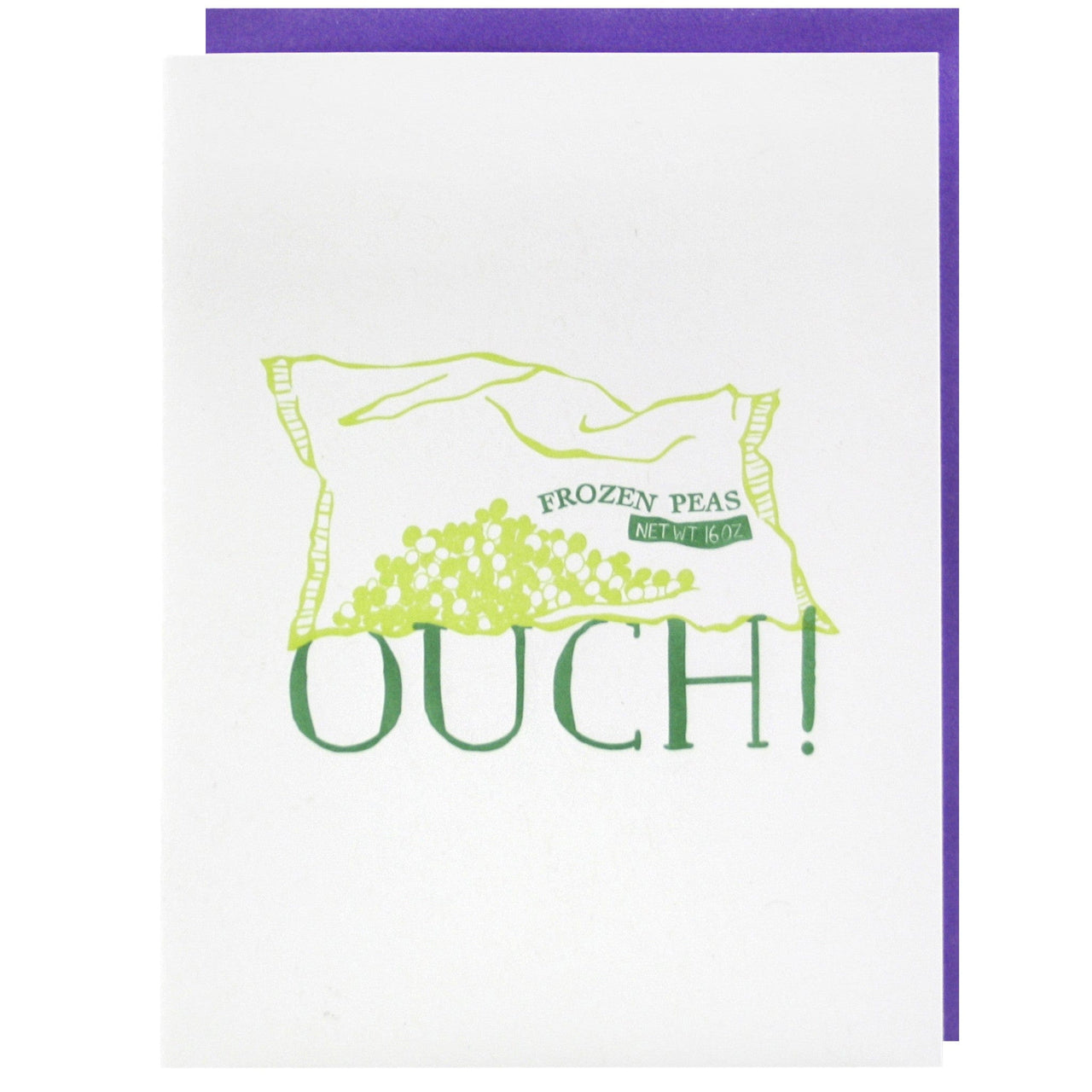 Frozen Peas Get Well Card