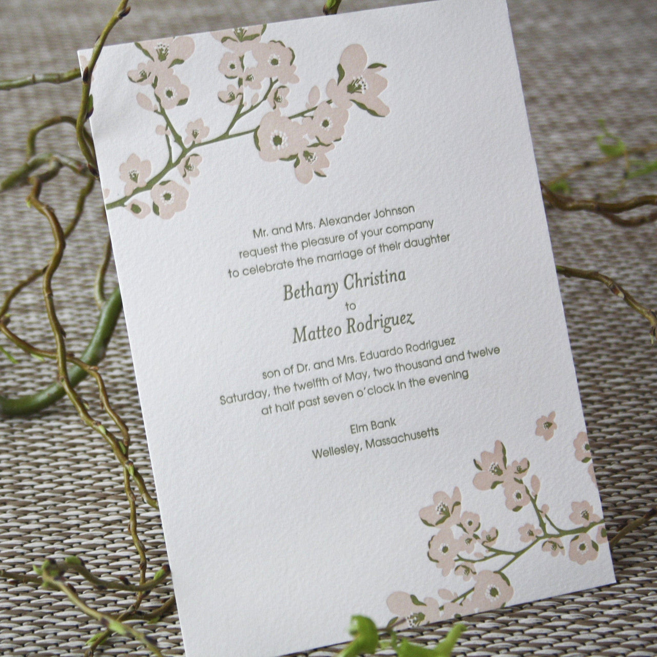 Gwyneth Letterpress Invitation
