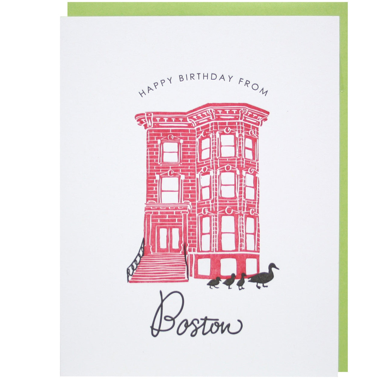 Happy Birthday from Boston Card