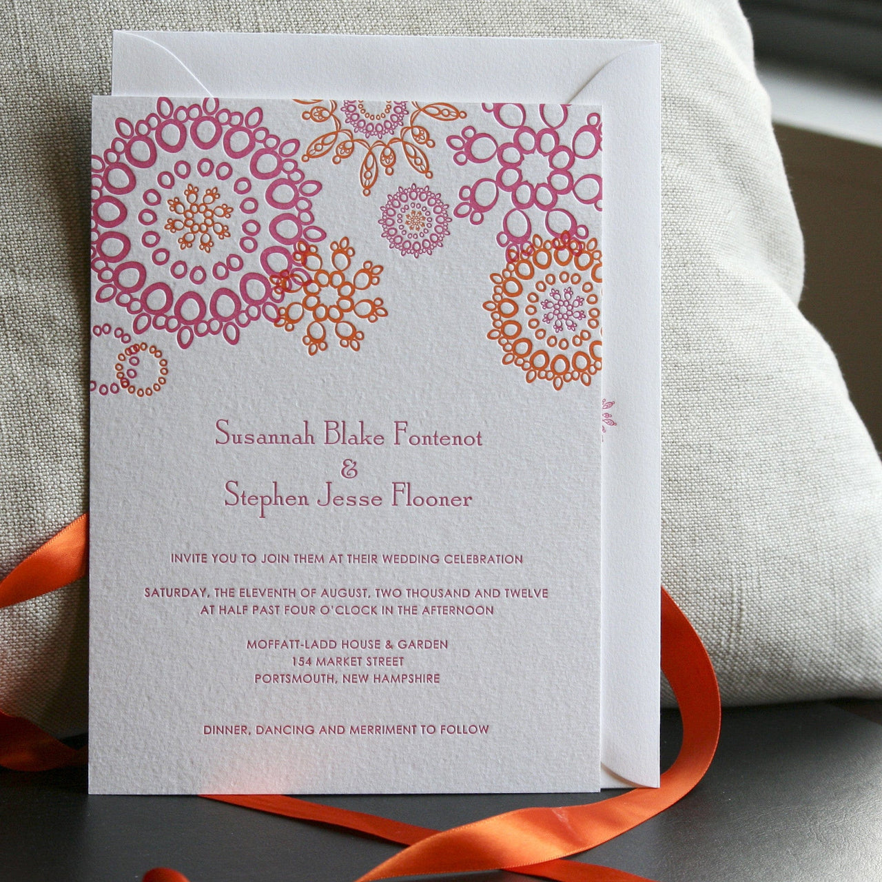 Jubilee Letterpress Invitation