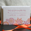 Jubilee Letterpress Reply Card