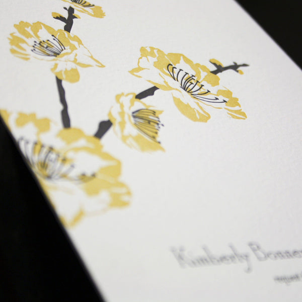 Lenox Letterpress Invitation Close Up