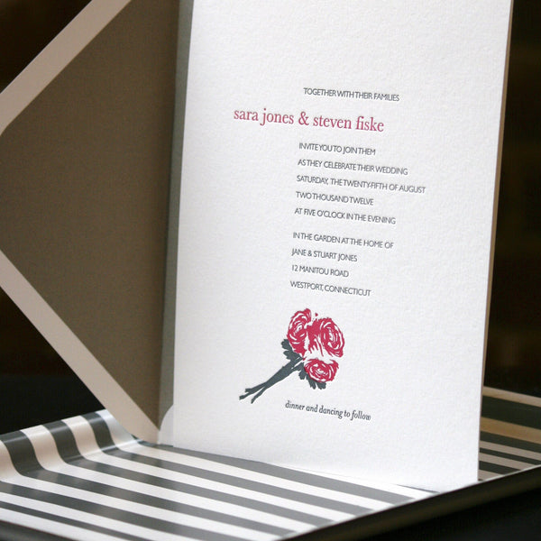 Mercer Letterpress Invitation