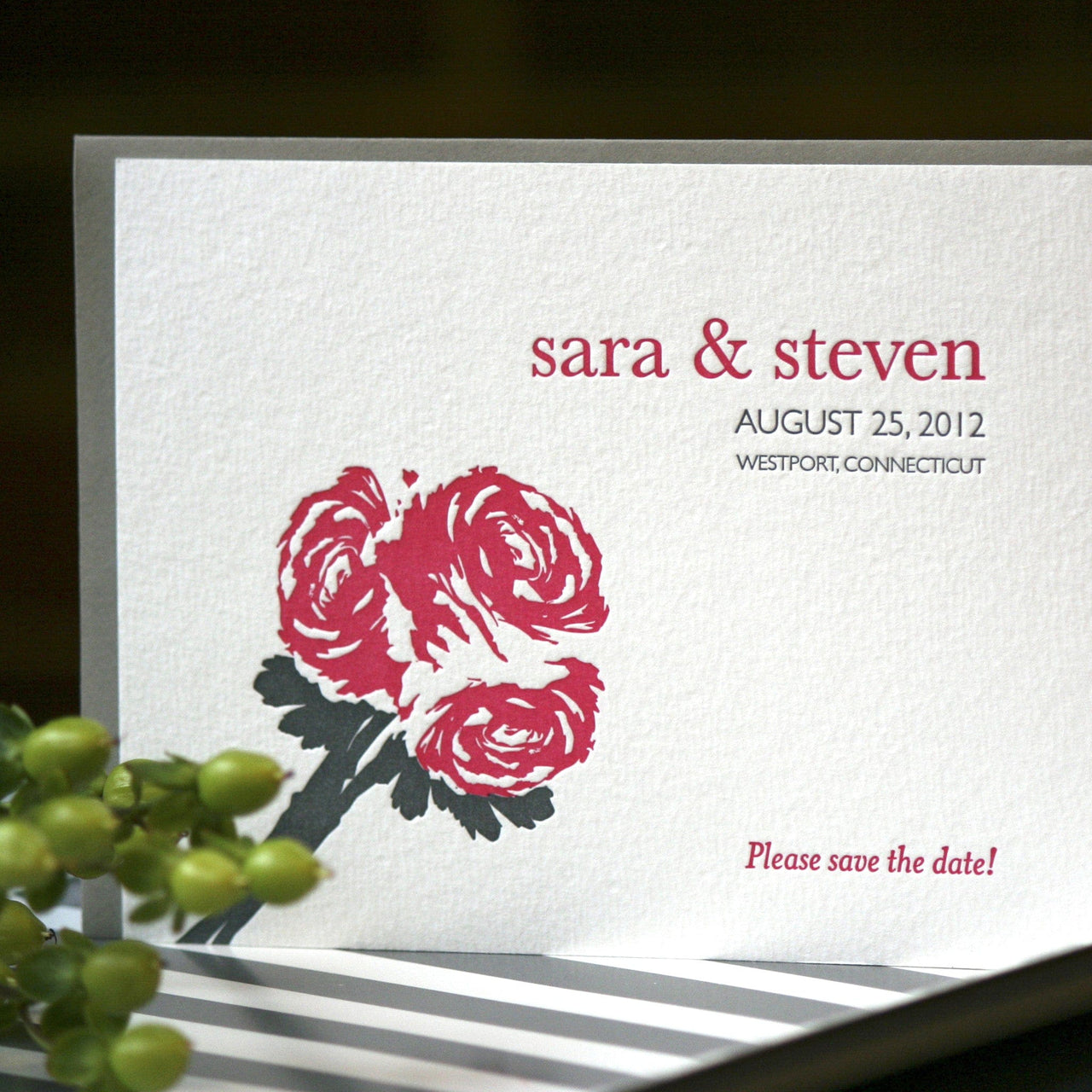 Mercer Letterpress Save the Date