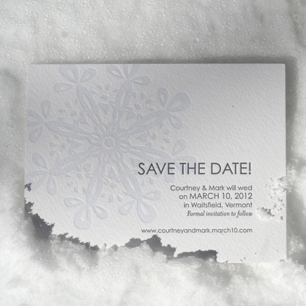 Olympia Letterpress Save the Date