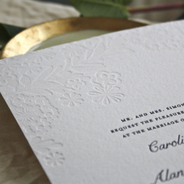 Peal Letterpress Invitation Close Up