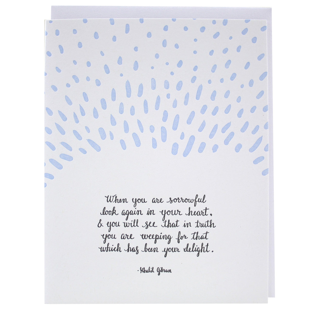 sorrrowful quote sympathy card - Sympathy Cards
