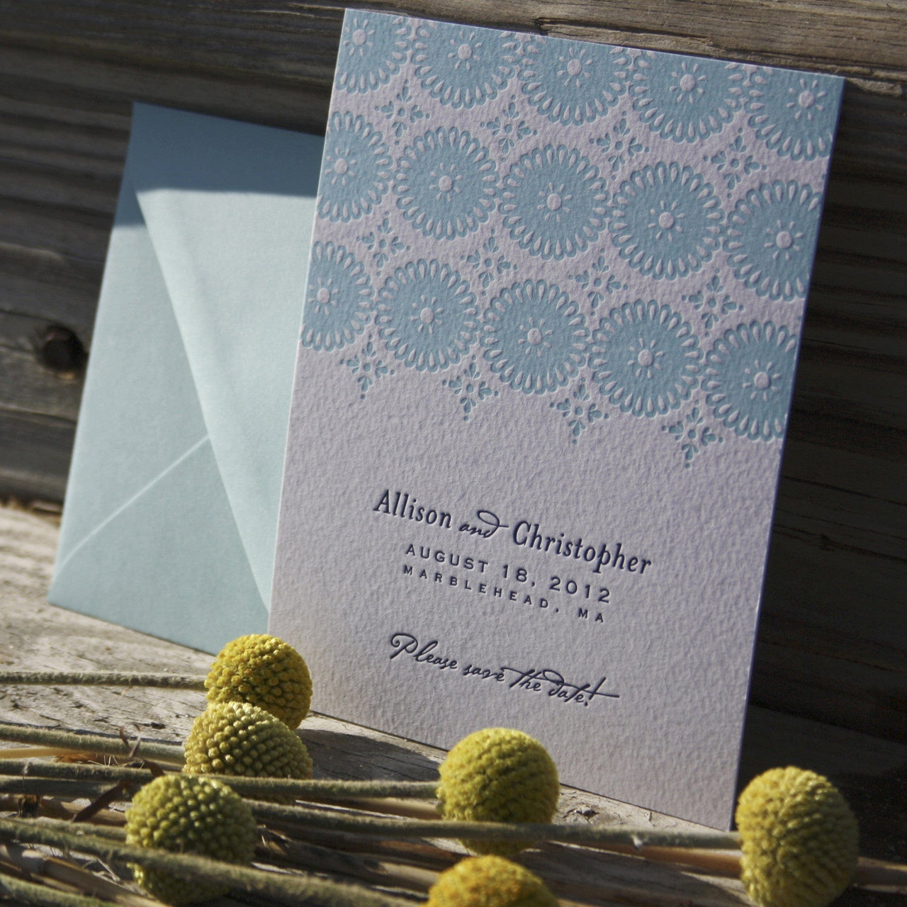 Sanibel Letterpress Save the Date