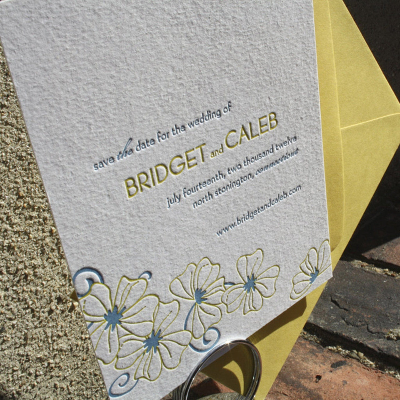Somerset Letterpress Save the Date