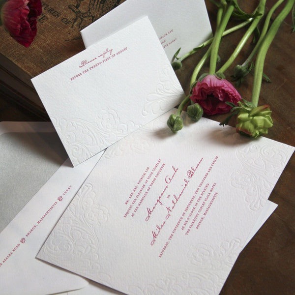 Sutton Letterpress Invitation Suite