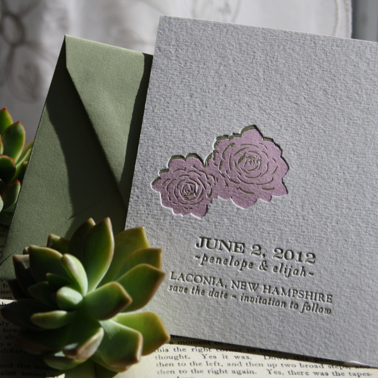 Terra Letterpress Save the Date