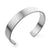 Matte Open End Wide Cuff Unisex Steel Bangle - Monera-Design Co., Ltd