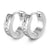 Forever Love CZ Tiny Hoop Clasp Stainless Steel Earrings - Monera-Design Co., Ltd