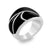 Steel Ring With Black Epoxy - Monera-Design Co., Ltd