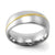Round Shape Steel Ring with Gold Line on Top - Monera-Design Co., Ltd
