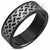 Black Laser Design Steel Ring