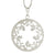 Round Steel Flower Pendant With CZ