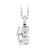 Stainless Steel Love small Pendant with CZ stone - Monera-Design Co., Ltd