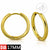 Stainless Steel Clip Gold Hoop Earrings - Monera-Design Co., Ltd