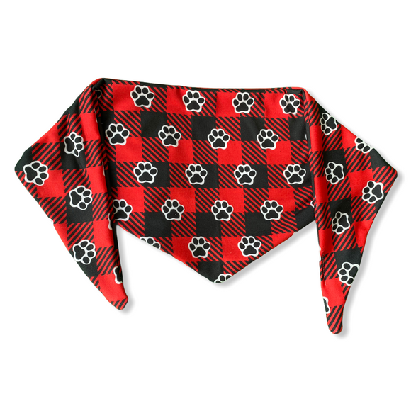 Pawsome Plaid Bandana