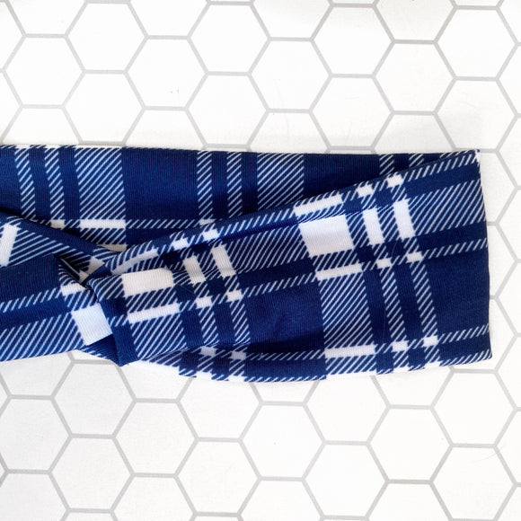 Navy Plaid Knottie