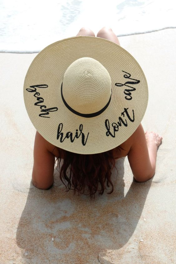Beach Sun Hat - Beach Hair Don't Care