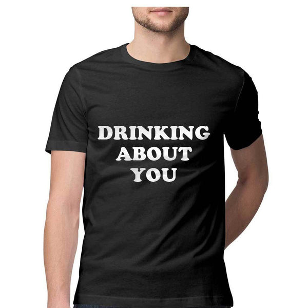 Tshirt - Drinking About You - Black