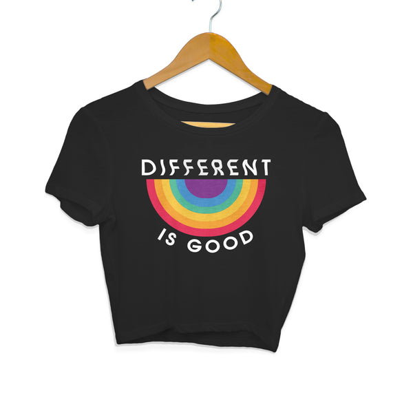 Crop Top - Different Is Good - Black