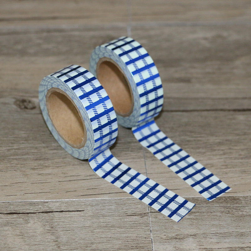 Washi Tape - Blue Gingham