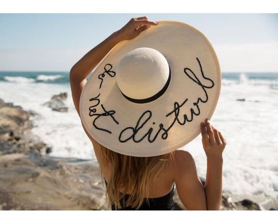 Beach Sun Hat for women - Do Not Disturb