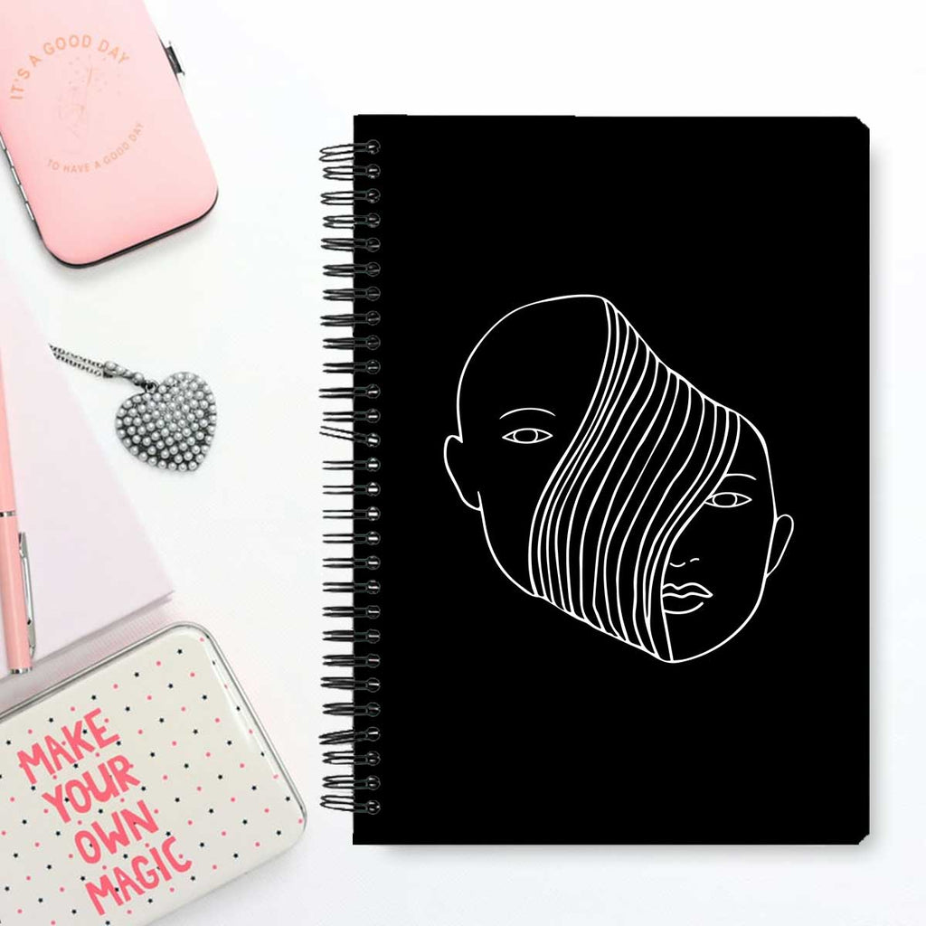 Stationery Notebook - Abstract Face