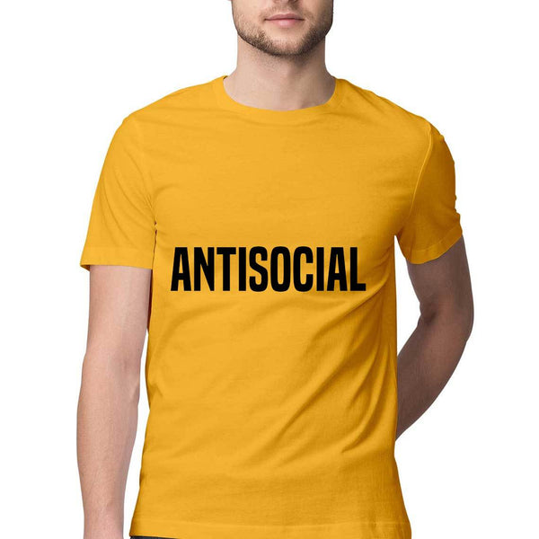 Tshirt - Antisocial - Yellow