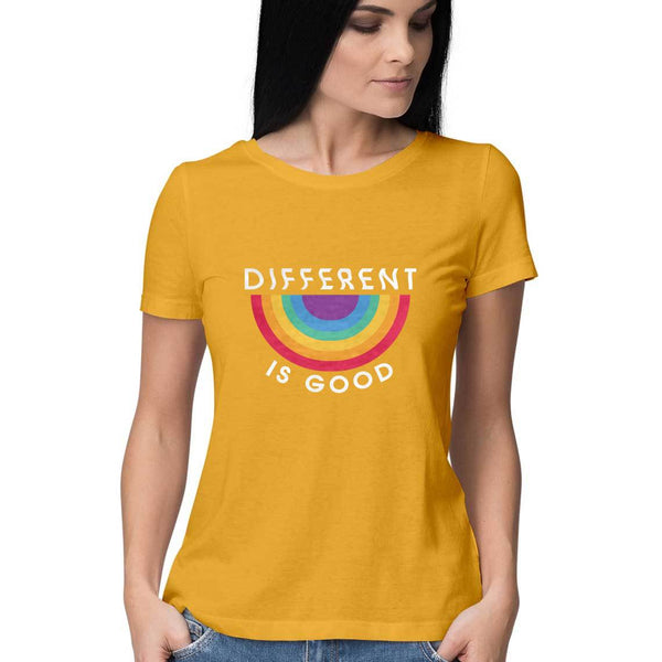 Tshirt - Different Is Good - Yellow