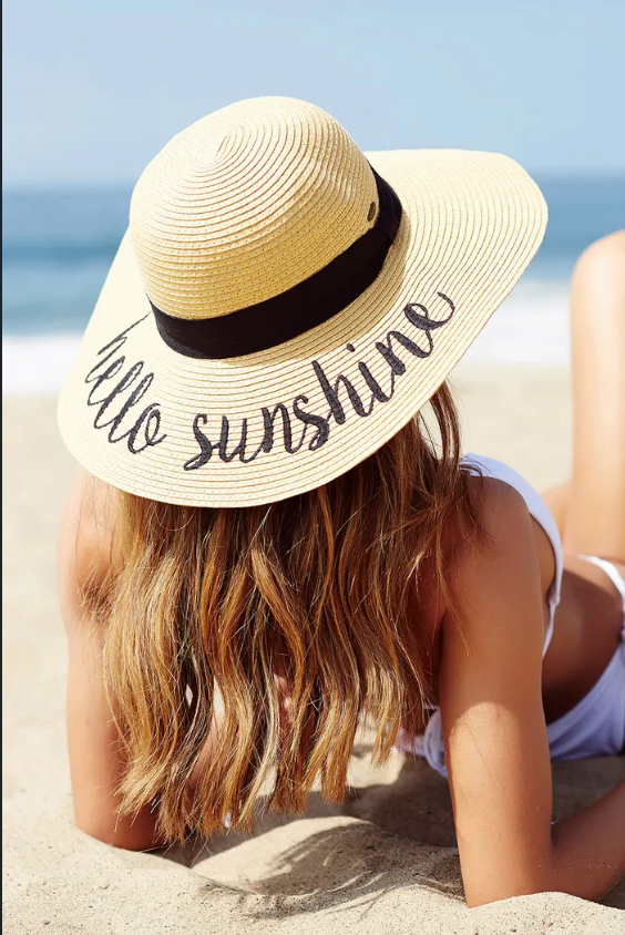 Beach Hat - Hello Sunshine