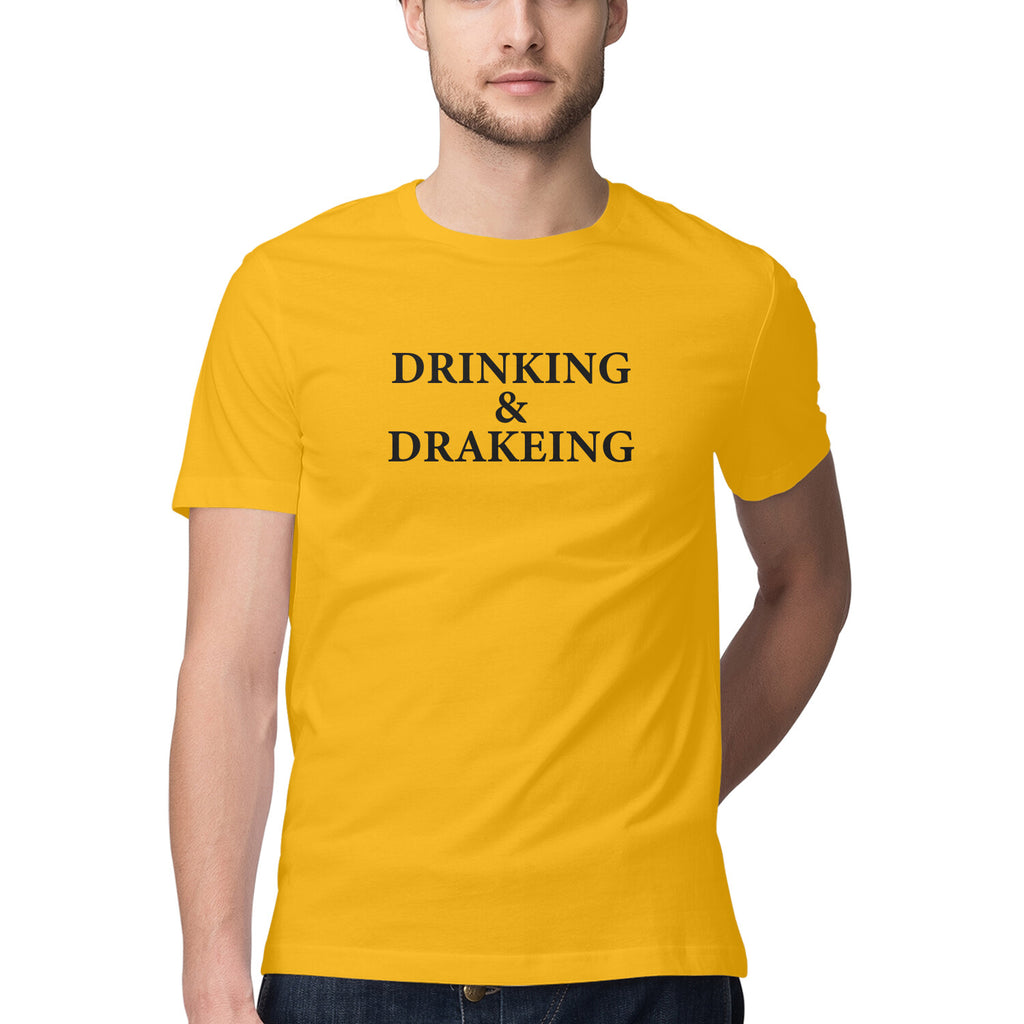 Men's Tshirt - Drinking and Drakeing