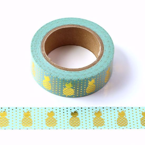 Washi Tape – Mint Pineapples