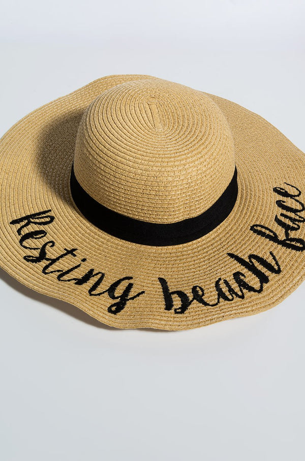Beach Hat - Resting Beach Face