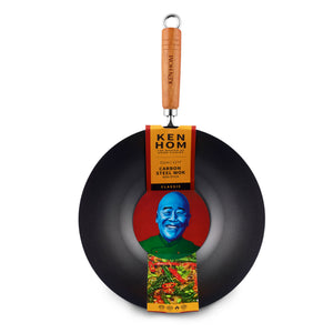 Ken Hom Classic 31cm N/S C/S Wok with Wooden Handle